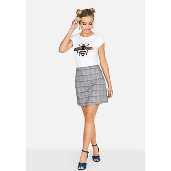 Girls On Film Womens/Ladies Avenue Check Skirt