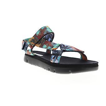 Camper Oruga  Mens Blue Canvas Floral Sport Sandals Shoes
