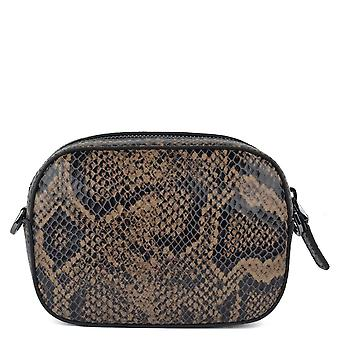 Ash SIBILLA Camera Bag Snake Print Leather