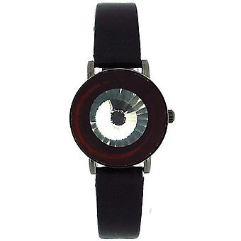 Istinto di anaIi Pink Crystal Flip aperto Nero Strap Ladies Fashion Watch AP526