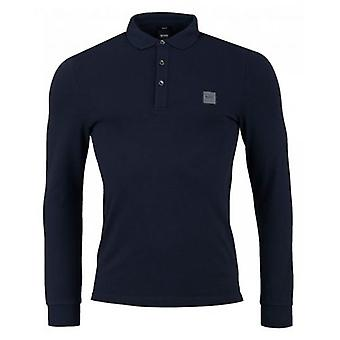 BOSS Passerby Logo Pique Long Sleeved Polo