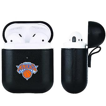 New York Knicks NBA Fan Brander Zwart lederen AirPod Case