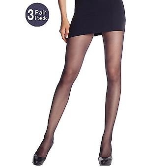 Silky Natural Cool & Fresh Crotchless Tights 3 Pair Pack