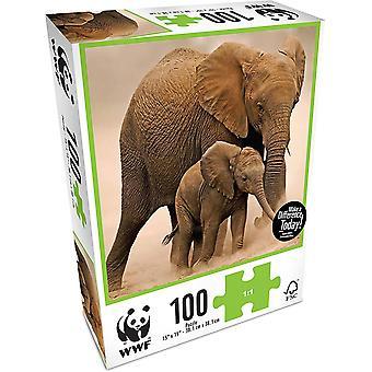 WWF 100 Piece Puzzle - Elephants