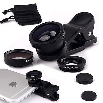 Huawei Mate S2 (Black) 3 in 1 Phone Camera Lens Kit Fisheye Lens + Wide Angle Lens + Macro Lens