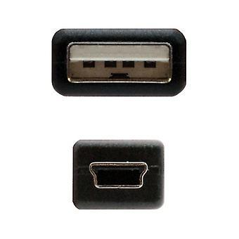 USB til Mini USB-kabel NANOCABLE 10.01.0401 Svart (1 M)