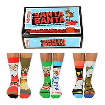 Chaussettes United Oddsocks Santa Banta Novelty