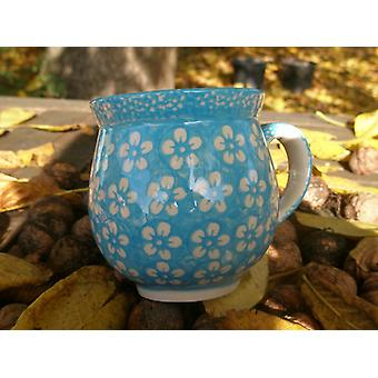 Ball Cup approx. 500 ml, height 11 cm, Bolesławiec turquoise, BSN J-934