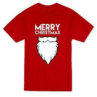 تي شيرت لحية الرجل عيد ميلاد سعيد اقتبس سانتا