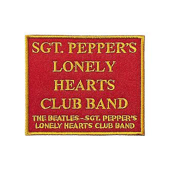 The Beatles Patch Sgt Peppers Song Title Red new Official embroidered Iron on