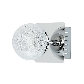 Techno Chrome Wall Light 1 Bulb 14.5 Cm