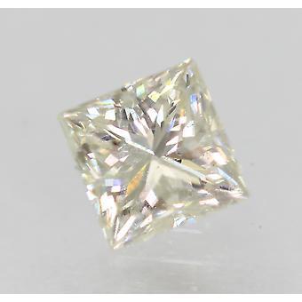 Certified 0.70 Carat H Color VS2 Princess Enhanced Natural Diamond 4.77x4.66mm