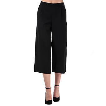 Women's Vero Moda Coco High Waist Culotte Trousers in Black