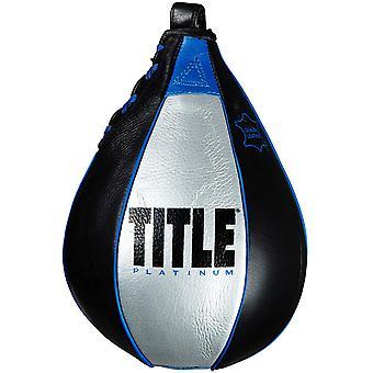 Title Boxing Platinum Perilous Speed Bag - Black/Silver