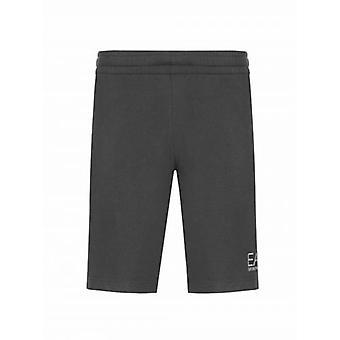 EA7 Grey Logo Cotton Shorts