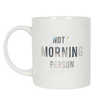 Iets anders niet een ochtend persoon mok