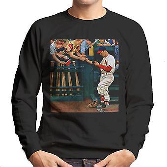 The Saturday Evening Post 1951 Baseball Cover Art Men's Sweatshirt
