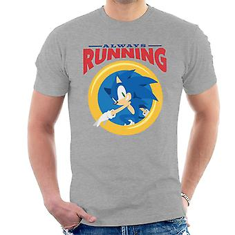 Sonic The Hedgehog Always Running Miehet's T-paita