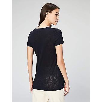 Marke - Tägliche Ritual Frauen's 100 % Leinen Kurzarm Rundhals T-Shirt...