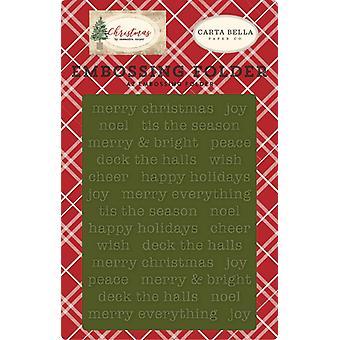 Carta Bella kohokuvii kansio hyvää joulua