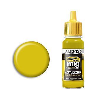 Ammo by Mig Acrylic Paint - A.MIG-0125 Gold Yellow (RLM04 Gelb) (17ml)