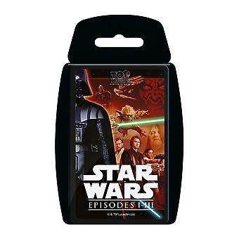 Star Wars Episodes 1-3 Top Trumps Card Game