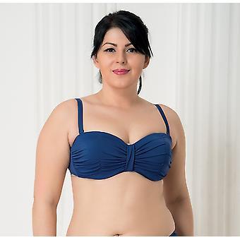 Aqua Perla Naisten Harmony Sininen Bikini Top Plus koko