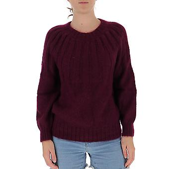Alberta Ferretti 09626606a0231 Damen's Burgund Wolle Pullover