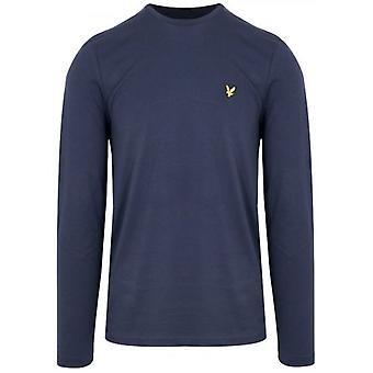 Lyle & Scott Navy Long Sleeved Crew Neck T Shirt