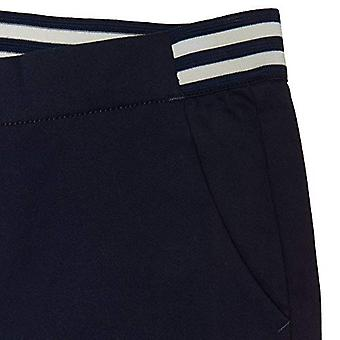 Fransk Toast Girls' Big Stretch Kontrast Elastic Waist Pull-on Pant, Navy, 14