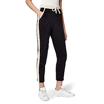 find. Women's Tapered Velour Joggers With Side Stripe, Black, S (US 4-6)