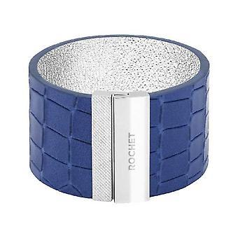 Pulsera Rochet FB1630212 - Acero DIVA - Blue Leather Link 35mm Cierre de Imán de Mujer