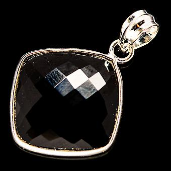 "Pingente ônix preto 1 3/8"" (925 Sterling Silver) - Handmade Boho Vintage Jewely PD735947"