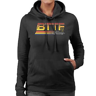Back to the Future Delorean Zooming Women's Hooded Sweatshirt