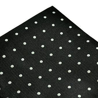Ties Planet Black & White Polka Dot Pocket Square