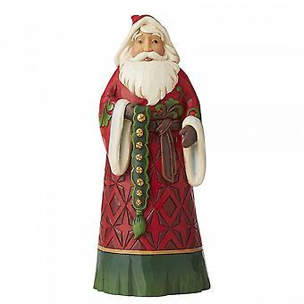 "Jim Shore Heartwood Creek Santa With Bells - ""let Goodwill Ring"""