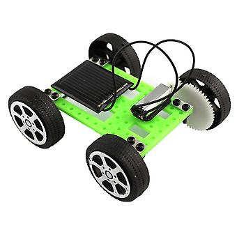 1 Sæt Mini Solar Powered Legetøj Intellectual Development Diy Car Kit Educational