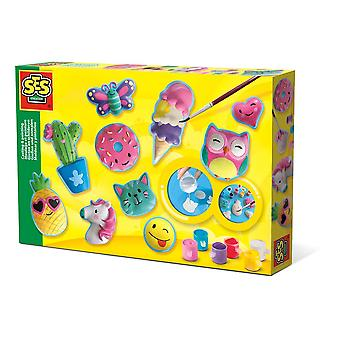 SES Creative Happy Figures Casting & Painting Kit Unisex Multi-color (1133)