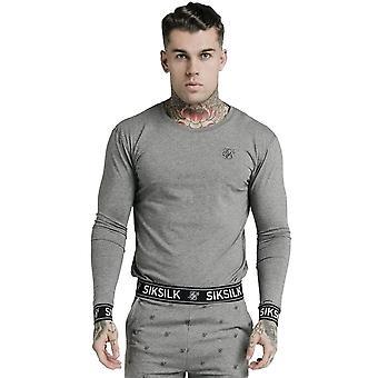 Sik Silk Ss-16797 Crew camiseta de manga larga - Grey Marl