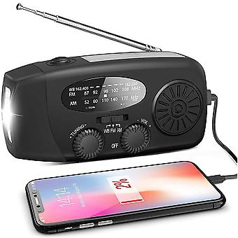 Multifunctional Hand Radio Solar Crank Dynamo Powered Am/fm/noaa Weather Radio