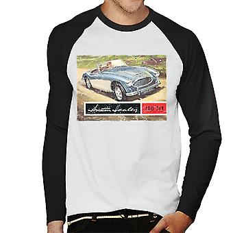 Austin Healey Country Road British Motor Heritage Men's Baseball Long Sleeved T-Shirt