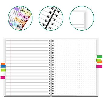 Newyes A4 Smart Erasable Notebook Paper Reusable Wirebound- Notebook App Connect Microwave Erase With Pen For Kids Students (dotted With Lined)