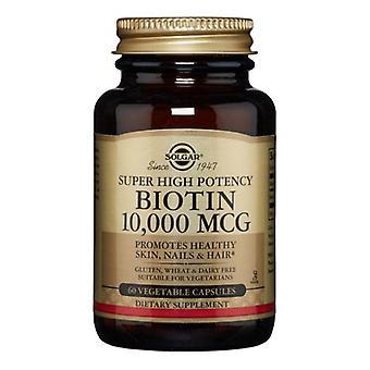 Solgar البيوتين، 10000 ميكروغرام، 60 قبعات الخضار