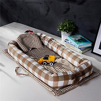 Portable Baby Nest Bed- Newborn Milk Sickness Bionic Bed, Crib Cot Mattres