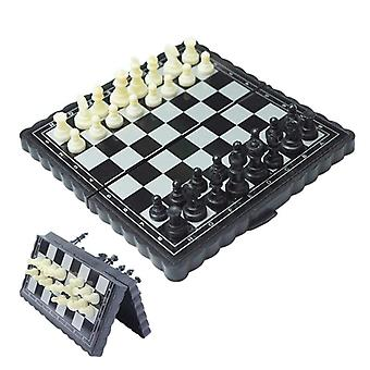 5x5 Inch Chess Portable Plastic Folding Board With Magnetic Chess Game- Mini