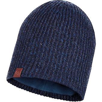 Buff Unisex Lyne Fine Knit Warm Winter Fleece Lined Beanie Skull Hat Night Blue