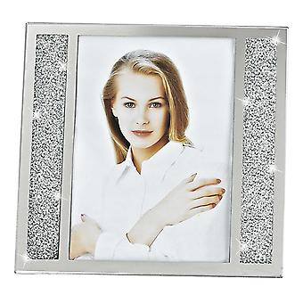 8 x 10 Silver Crystalized Picture Frame