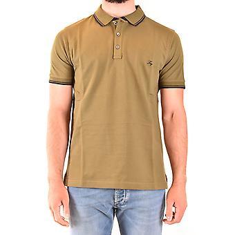 Fay Ezbc035079 Men's Green Cotton Polo Shirt
