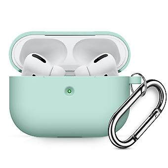 Case Soft silicone case with carabiner for Apple AirPods Pro Green #2