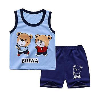 Puuvilla Kesä Vauvan Pehmeä Shortsit, Puku T-paita Sodder Lasten Vaatteet